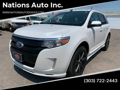 2014 Ford Edge for sale at Nations Auto Inc. in Denver CO