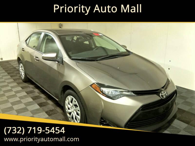 2017 Toyota Corolla for sale at Mr. Minivans Auto Sales - Priority Auto Mall in Lakewood NJ