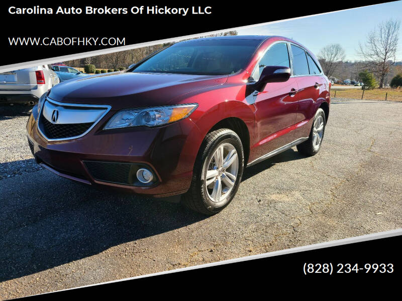 2013 Acura RDX for sale at Carolina Auto Brokers of Hickory LLC in Newton NC