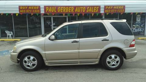 2003 Mercedes-Benz M-Class for sale at Paul Gerber Auto Sales in Omaha NE