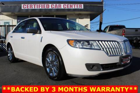 2011 Lincoln MKZ for sale at CERTIFIED CAR CENTER in Fairfax VA
