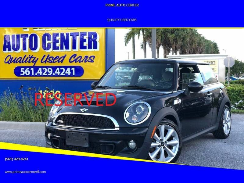 2012 MINI Cooper Hardtop for sale at PRIME AUTO CENTER in Palm Springs FL