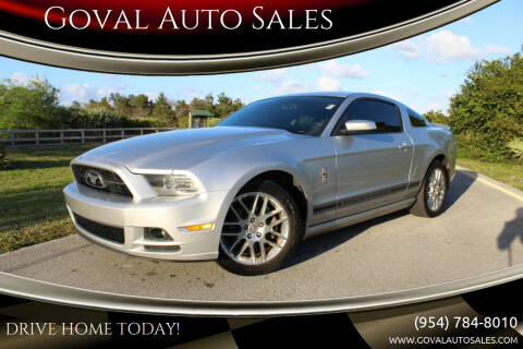 2014 Ford Mustang for sale at Goval Auto Sales in Pompano Beach FL
