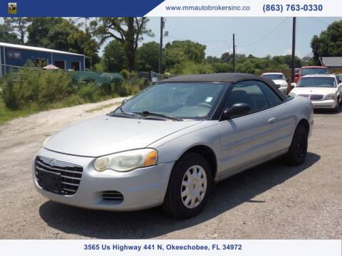 2006 Chrysler Sebring for sale at M & M AUTO BROKERS INC in Okeechobee FL