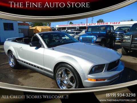 2005 Ford Mustang for sale at The Fine Auto Store in Imperial Beach CA