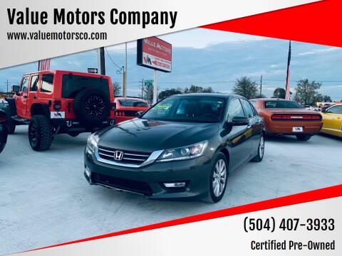2014 Honda Accord for sale at Value Motors Company in Marrero LA