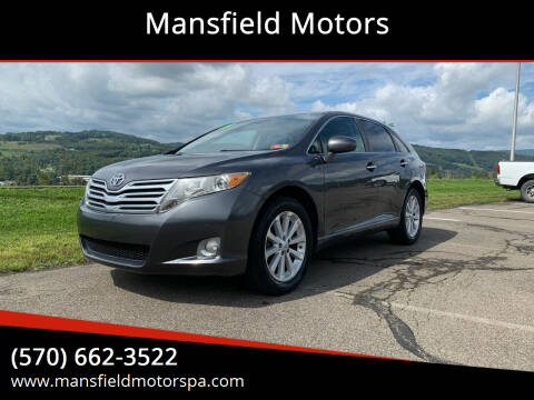 2009 Toyota Venza for sale at Mansfield Motors in Mansfield PA