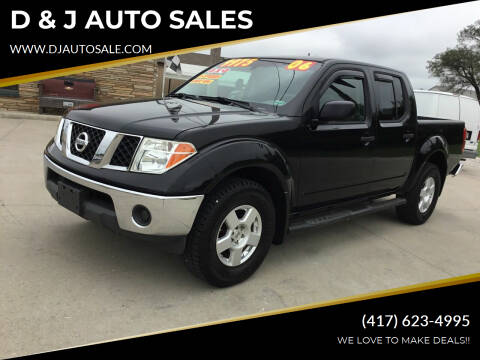 2006 Nissan Frontier for sale at D & J AUTO SALES in Joplin MO