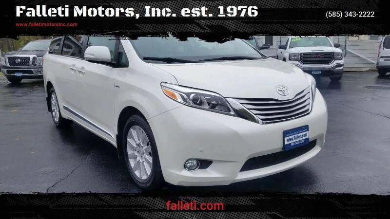 2017 Toyota Sienna for sale at Falleti Motors, Inc.  est. 1976 in Batavia NY