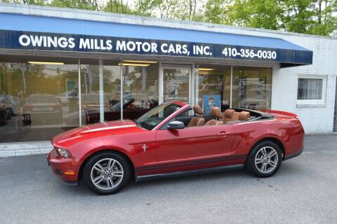 2010 Ford Mustang for sale at Owings Mills Motor Cars in Owings Mills MD