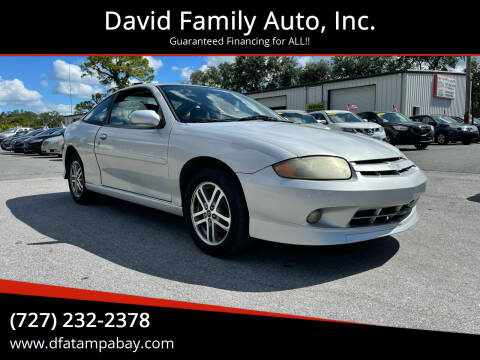 2003 Chevrolet Cavalier for sale at David Family Auto, Inc. in New Port Richey FL