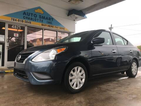 2017 Nissan Versa for sale at Auto Smart Charlotte in Charlotte NC