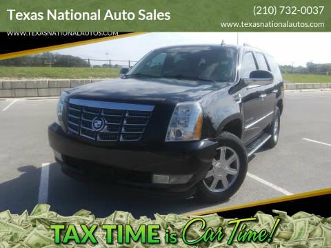2008 Cadillac Escalade for sale at Texas National Auto Sales in San Antonio TX