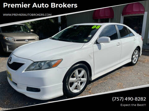 2008 Toyota Camry for sale at Premier Auto Brokers in Virginia Beach VA