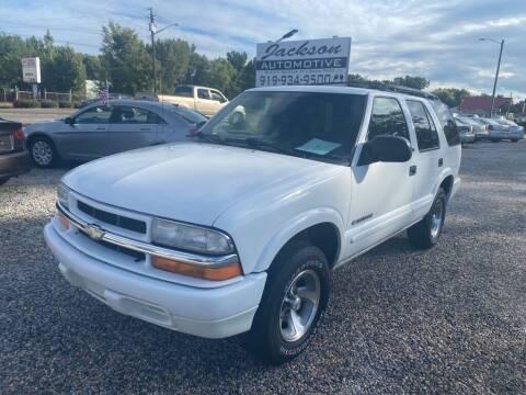 2002 Chevrolet Blazer for sale at Jackson Automotive in Smithfield NC