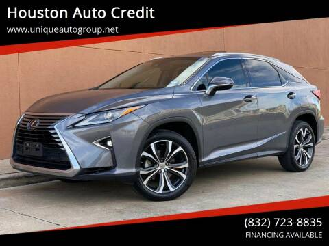 2016 Lexus RX 350 for sale at Houston Auto Credit in Houston TX