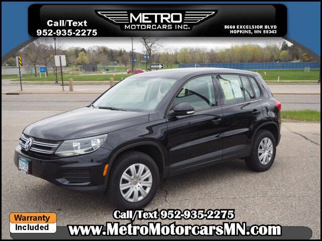 2014 Volkswagen Tiguan for sale at Metro Motorcars Inc in Hopkins MN