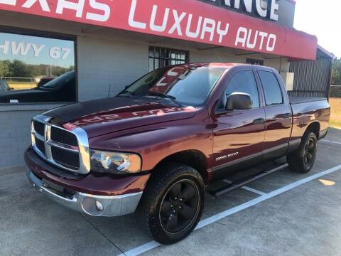 2002 Dodge Ram Pickup 1500 for sale at Texas Luxury Auto in Cedar Hill TX