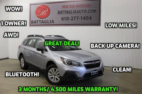 2018 Subaru Outback for sale at Battaglia Auto Sales in Plymouth Meeting PA