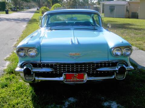 1958 Cadillac DeVille for sale at Fuzzy Dice Motorz LLC - Specialty/Collectibles in Batavia IL