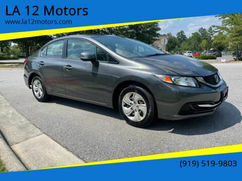 2013 Honda Civic for sale at LA 12 Motors in Durham NC