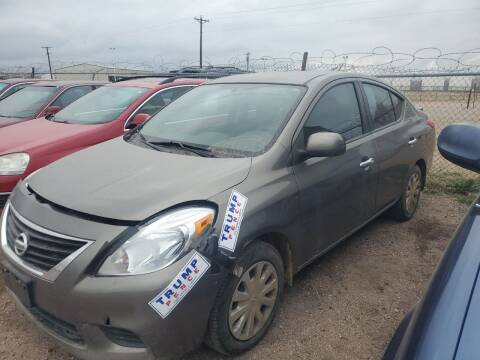 2013 Nissan Versa for sale at PYRAMID MOTORS - Fountain Lot in Fountain CO