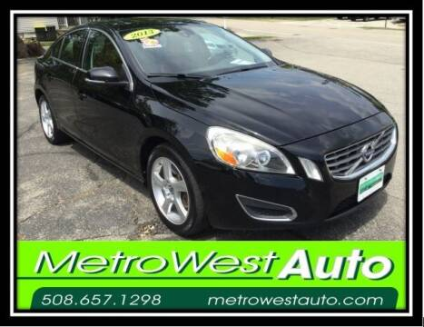 2013 Volvo S60 for sale at Metro West Auto in Bellingham MA