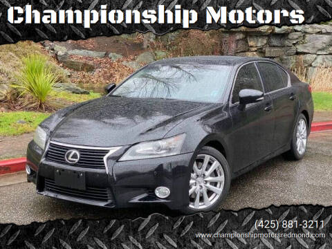 2013 Lexus GS 350 for sale at Championship Motors in Redmond WA