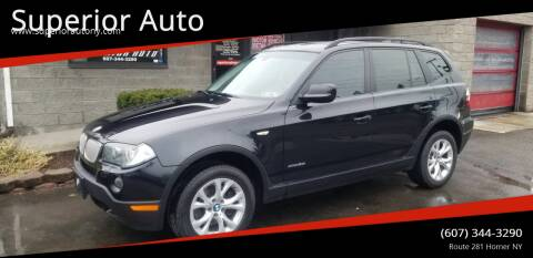 2010 BMW X3 for sale at Superior Auto in Cortland NY