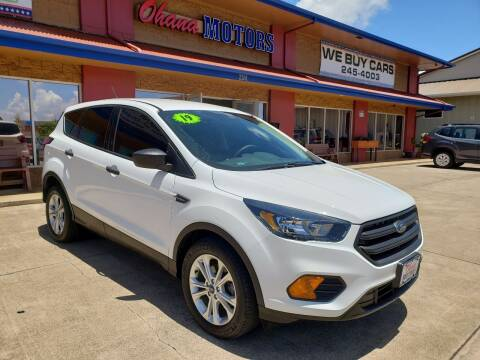 2019 Ford Escape for sale at Ohana Motors in Lihue HI