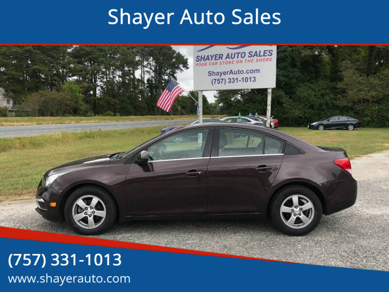 2015 Chevrolet Cruze for sale at Shayer Auto Sales in Cape Charles VA