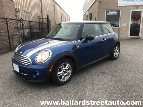 2012 MINI Cooper Hardtop for sale at Ballard Street Auto in Saugus MA