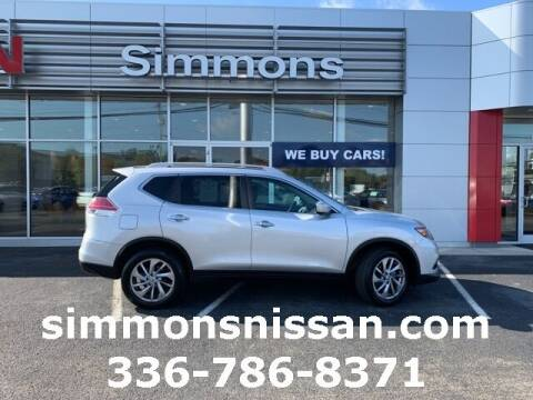 2015 Nissan Rogue for sale at SIMMONS NISSAN INC in Mount Airy NC