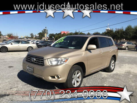 2010 Toyota Highlander for sale at J D USED AUTO SALES INC in Doraville GA