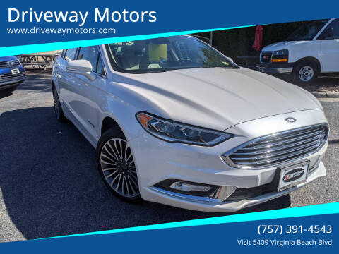 2018 Ford Fusion Hybrid for sale at Driveway Motors in Virginia Beach VA