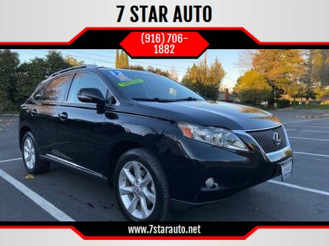 2012 Lexus RX 350 for sale at 7 STAR AUTO in Sacramento CA