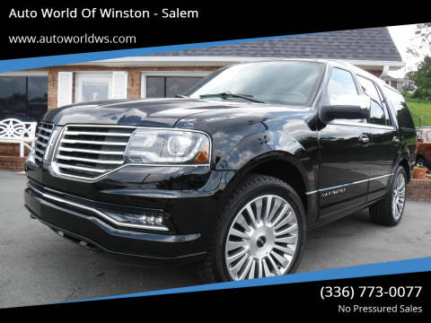 2017 Lincoln Navigator for sale at Auto World Of Winston - Salem in Winston Salem NC
