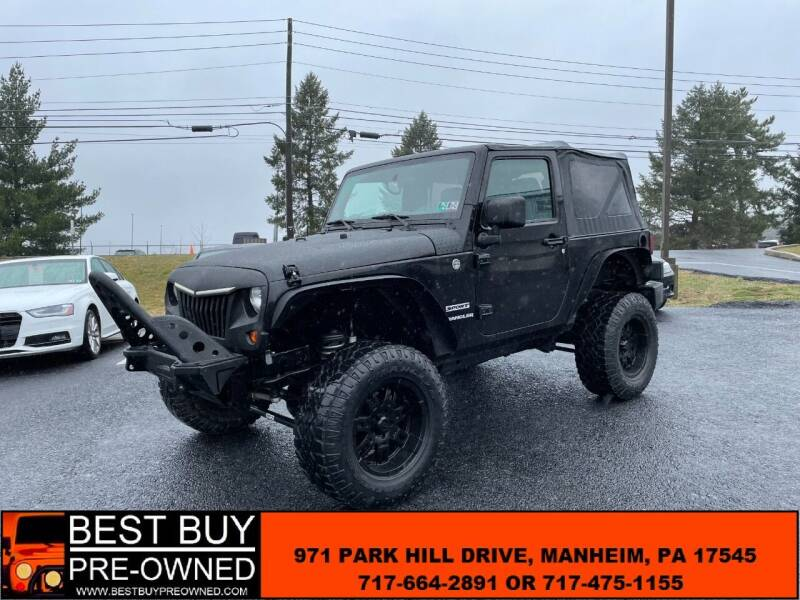 2013 Jeep Wrangler for sale at Best Buy Pre-Owned in Manheim PA