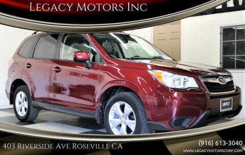 2014 Subaru Forester for sale at Legacy Motors Inc in Roseville CA