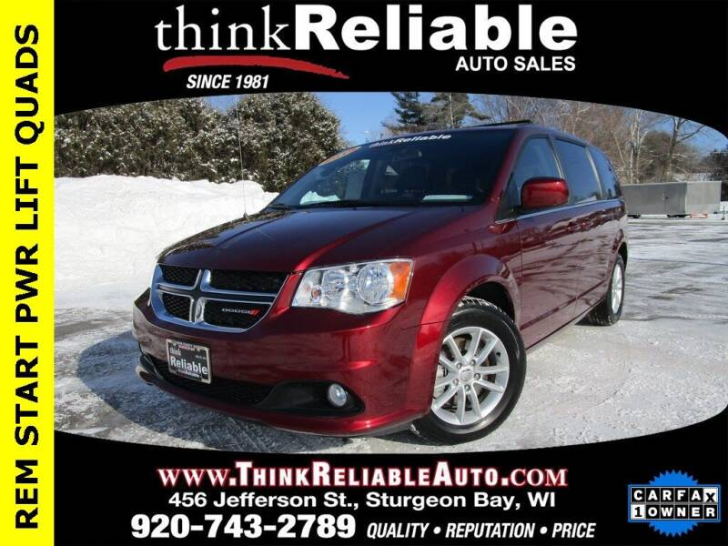 2019 Dodge Grand Caravan for sale at RELIABLE AUTOMOBILE SALES, INC in Sturgeon Bay WI