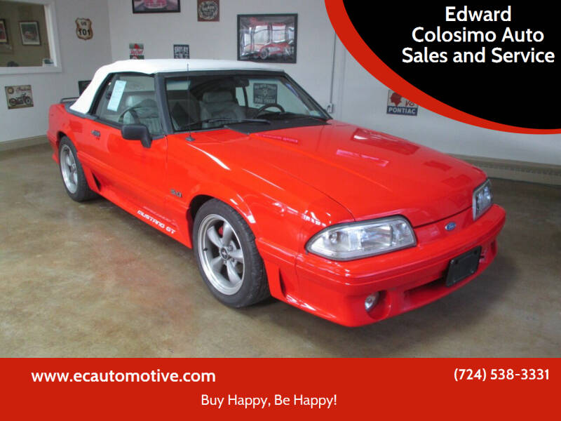 1993 Ford Mustang for sale at Edward Colosimo Auto Sales and Service in Evans City PA
