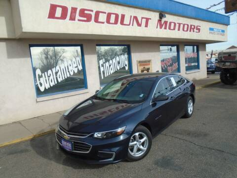 2017 Chevrolet Malibu for sale at Discount Motors in Pueblo CO