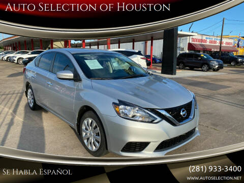 2019 Nissan Sentra for sale at Auto Selection of Houston in Houston TX