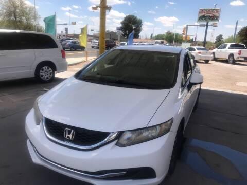 2013 Honda Civic for sale at Fiesta Motors Inc in Las Cruces NM