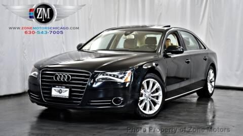 2012 Audi A8 L for sale at ZONE MOTORS in Addison IL