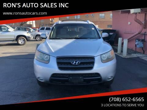 2007 Hyundai Santa Fe for sale at RON'S AUTO SALES INC in Cicero IL