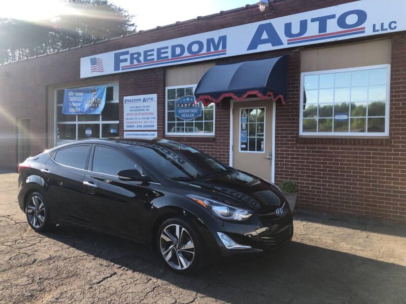 2014 Hyundai Elantra for sale at FREEDOM AUTO LLC in Wilkesboro NC