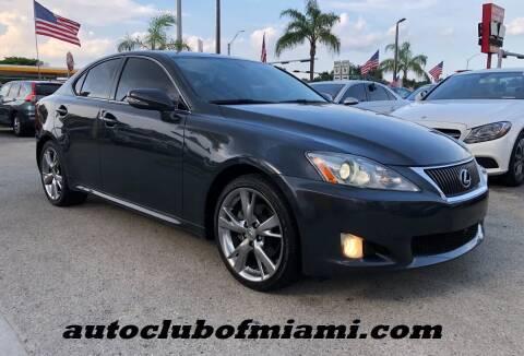 2009 Lexus IS 250 for sale at AUTO CLUB OF MIAMI, INC in Miami FL