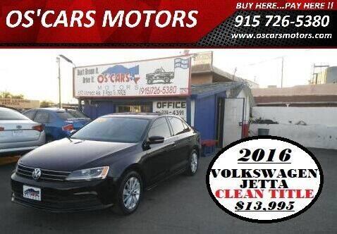 2016 Volkswagen Jetta for sale at Os'Cars Motors in El Paso TX