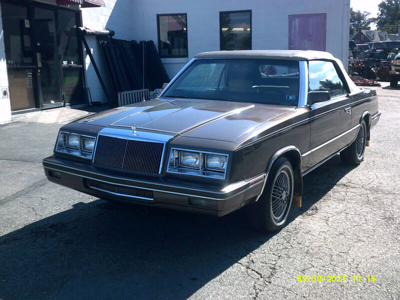 1984 Chrysler Le Baron for sale at M & M Inc. of York in York PA